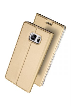 Dux Ducis Skin Pro Series Gold Plånboksfodral från Dux Ducis till Galaxy S7 Edge