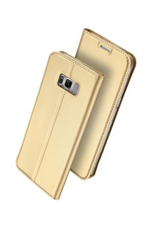 Dux Ducis Skin Pro Series Gold Plånboksfodral från Dux Ducis till Galaxy S8 Plus