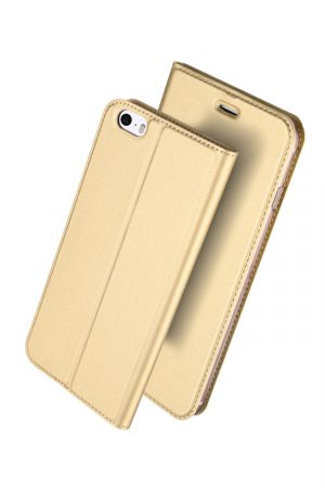 Dux Ducis Skin Pro Series Gold Plånboksfodral från Dux Ducis till iPhone SE