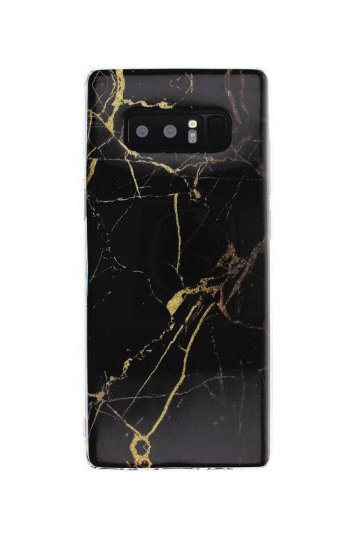 Black Gold Marble Soft Case Skal från Essentials till GalaxyNote 8