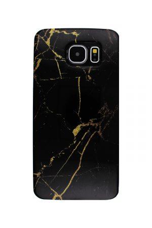 Black Gold Marble Soft Case Skal från Essentials till Galaxy S6