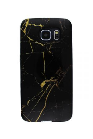 Black Gold Marble Soft Case Skal från Essentials till Galaxy S6 Edge