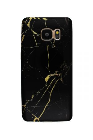 Black Gold Marble Soft Case Skal från Essentials till Galaxy S7