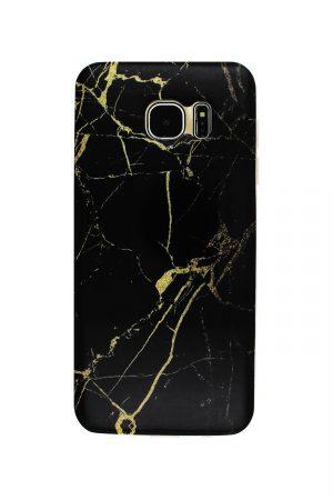 Black Gold Marble Soft Case Skal från Essentials till Galaxy S7 Edge