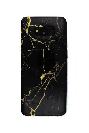 Black Gold Marble Soft Case Skal från Essentials till Galaxy S8 Plus