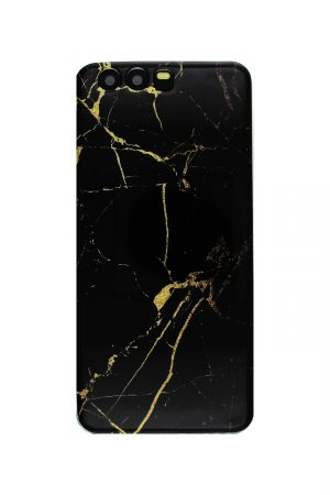 Black Gold Marble Soft Case Skal från Essentials till Huawei P10