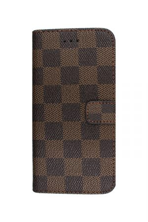 Checker Wallet Brown Plånboksfodral från Essentials till Galaxy S7