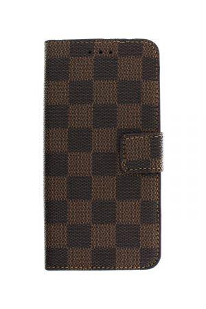 Checker Wallet Brown Plånboksfodral från Essentials till Galaxy S7 Edge