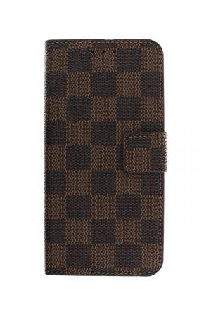 Checker Wallet Brown Plånboksfodral från Essentials till Galaxy S8