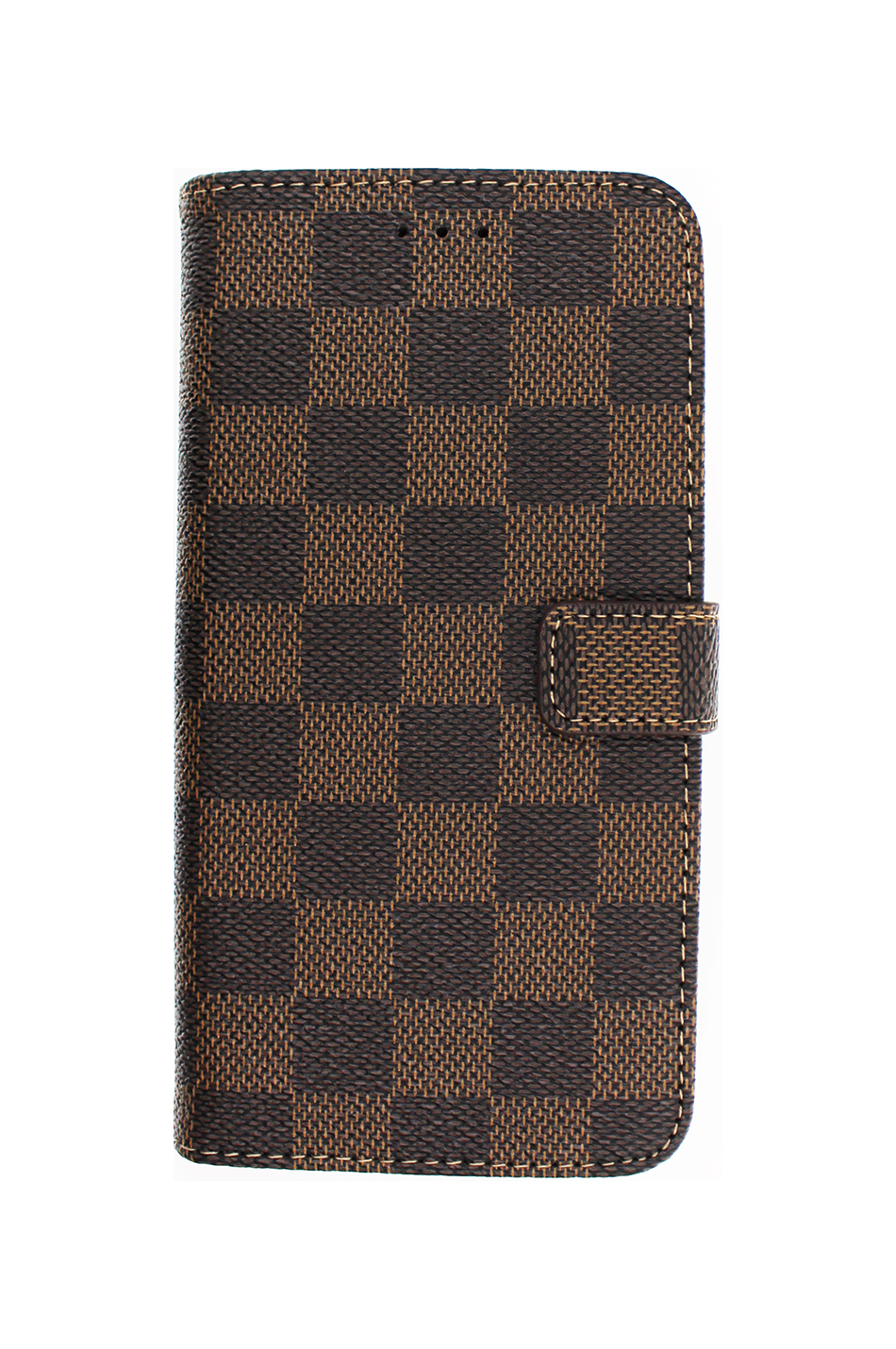Checker Wallet Brown Plånboksfodral från Essentials till iPhone 7 Plus