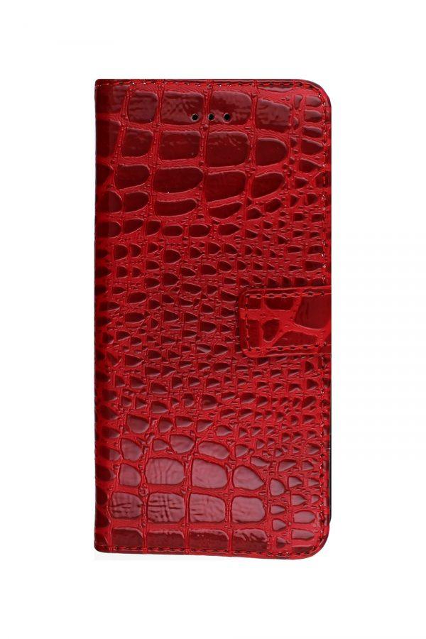 Croco Wallet Red Plånboksfodral från Essentials till iPhone 8