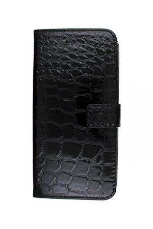Croco Wallet Black Plånboksfodral från Essentials till iPhone 8