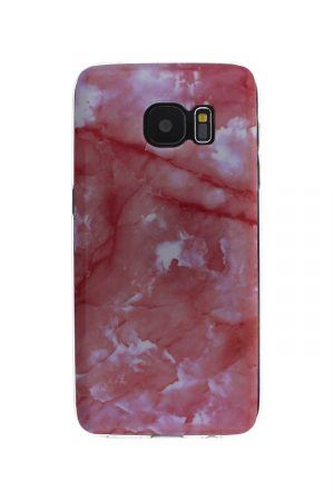 Pink Marble Soft Case Skal från Essentials till Galaxy S7