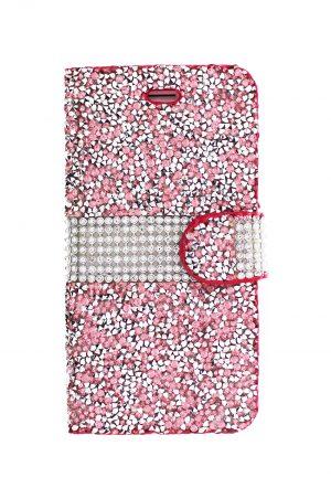 Sparkle Wallet Pink Plånboksfodral från Essentials till iPhone 8