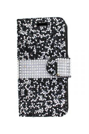 Sparkle Wallet Black Plånboksfodral från Essentials till iPhone 6S Plus