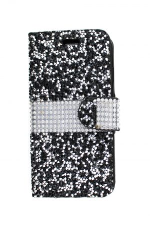 Sparkle Wallet Black Plånboksfodral från Essentials till iPhone 6S Plus