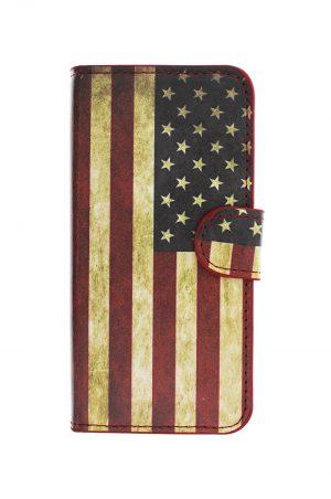 USA Retro Wallet Plånboksfodral från Essentials till iPhone SE