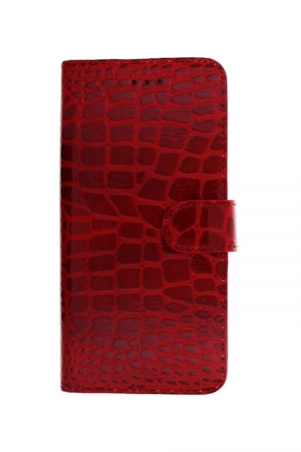 Croco Wallet Red Plånboksfodral från Essentials till iPhone 8 Plus