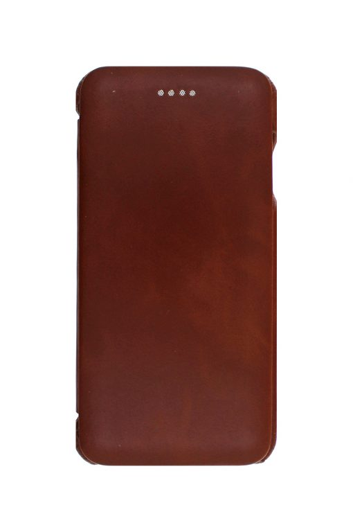 iSuit Vintage Back id Genuine Leather Folio Cover Brown från Essentials till Galaxy S8 Plus