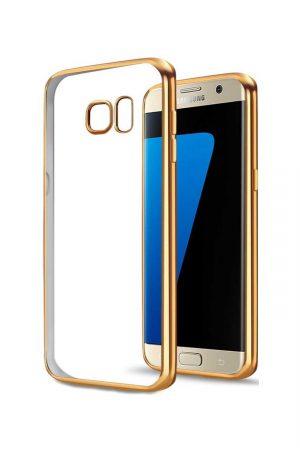 Platina Soft Case Gold Skal från Essentials till Galaxy S7 Edge
