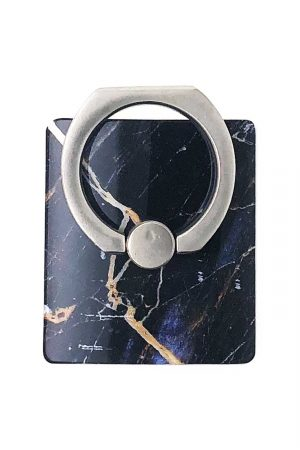 Ring Holder Black Marble i Semi-mjuk plast