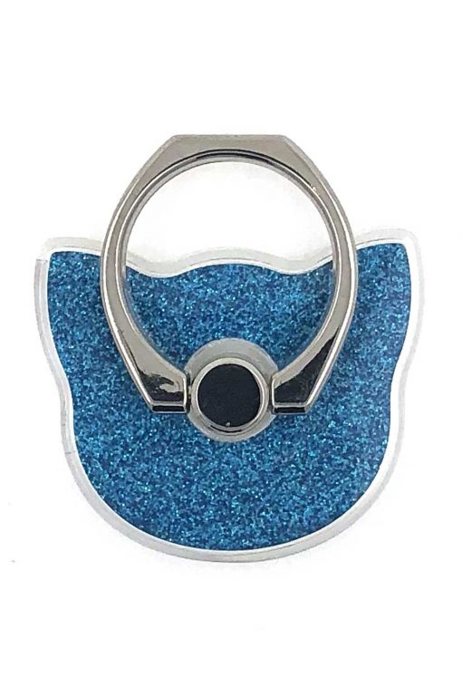 Ring Holder Glittery Cat Blue