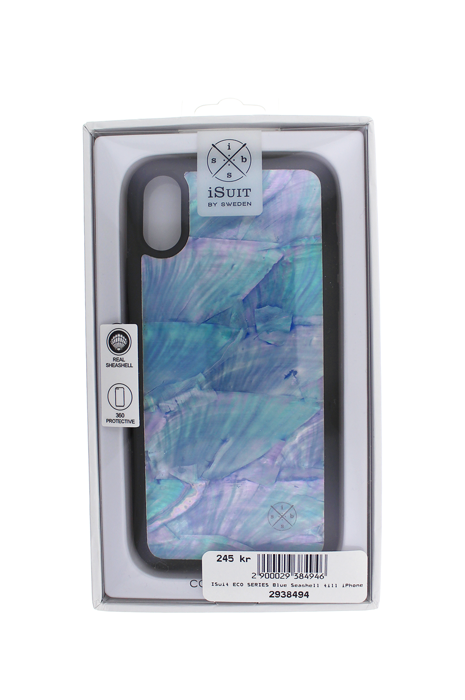 iSuit ECO SERIES Blue Seashell till iPhone X - Mobello ed25f2a1ac12c