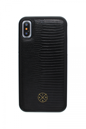 iSuit Croco Genuine Leather Case Black Skal från Mobello Leather Case till iPhone XS