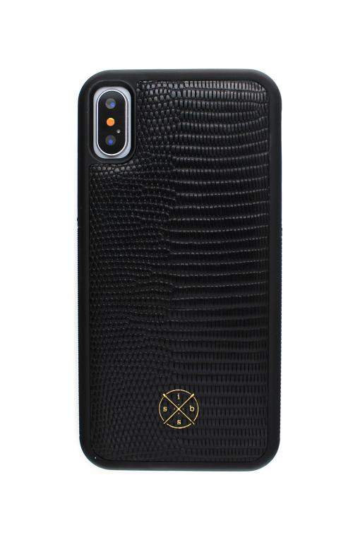 iSuit Croco Genuine Leather Case Black Skal från Mobello Leather Case till iPhone XS