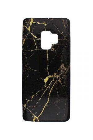 Black Gold Marble Soft Case Skal från Essentials till Galaxy S9