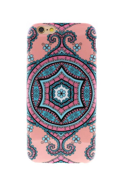 Sassy Pink Fractal Soft Case till iPhone 6 : 6S 2.jpg