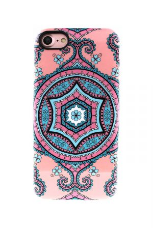 Sassy Pink Fractal Soft Case till iPhone 7 : 8 2.jpg
