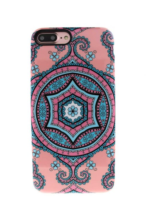 Sassy Pink Fractal Soft Case till iPhone 7 : 8 Plus 2.jpg