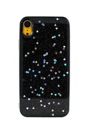 Sparkles N' Flares Tiny Heart Svart till iPhone XR 2.jpg