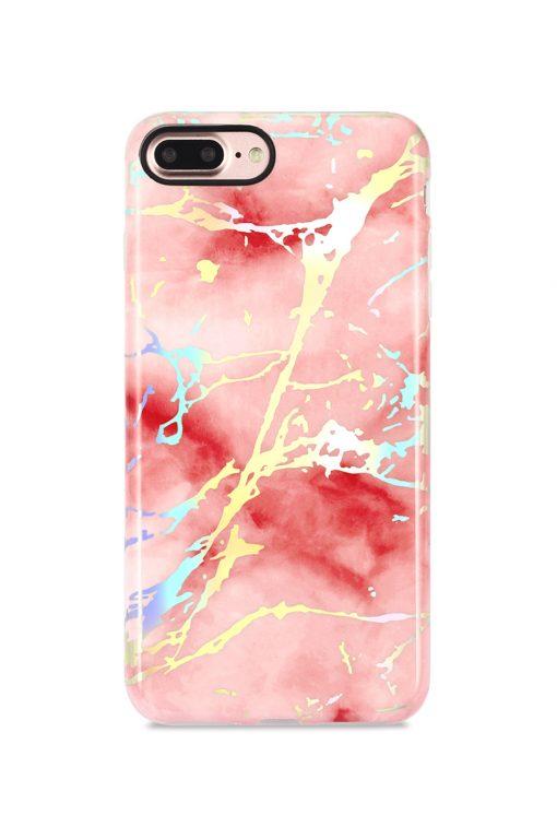 Mobello Soft Poly Pink Marble Holo Chrome Soft Case Skal från Mobello Soft Poly till iPhone 6S Plus