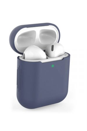 Airpods i blått soft cover fodral