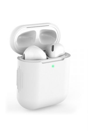 Airpods i vitt soft cover fodral