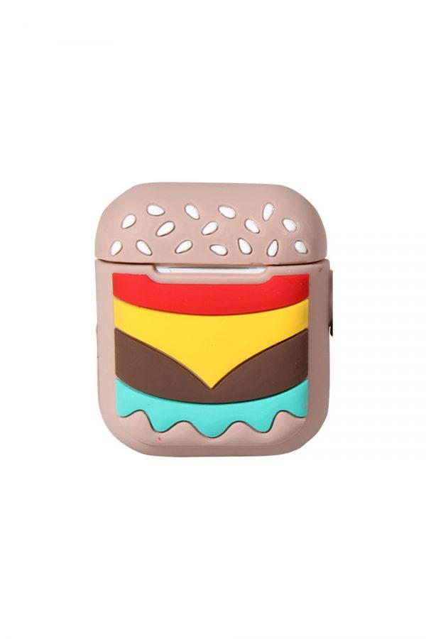 Airpods med hamburgare fodral