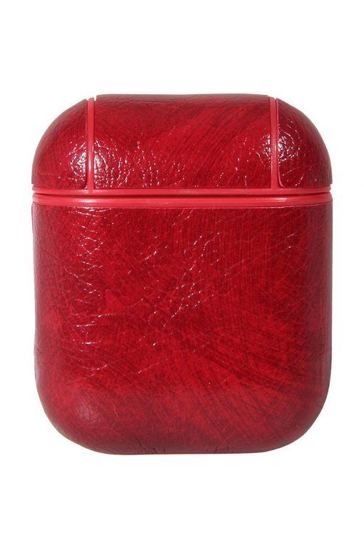 Airpods Case PU Leather Red