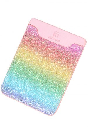 Credit Card Holder Adhesive Glittery Gradient