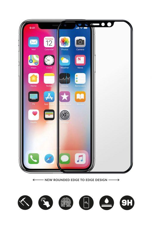 Glass Arc Protector Svart från Glasskydd till iPhone XR