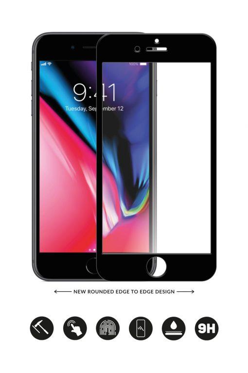 Glass Arc Protector Svart från Glasskydd till iPhone 6S Plus