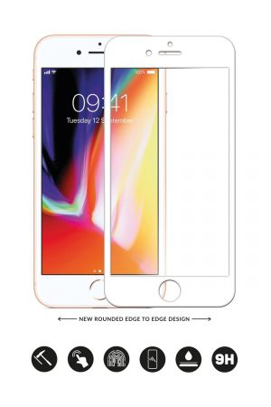 Glass Arc Protector Vit från Glasskydd till iPhone 6S