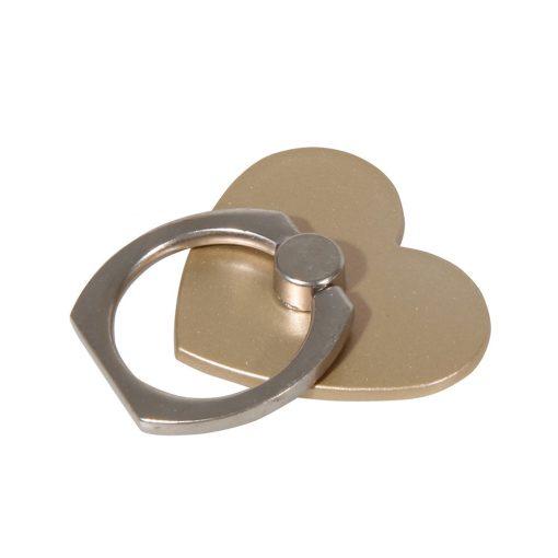 ringhållare guldhjärta