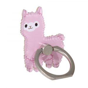 ringhållare rosa alpacka