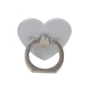 ståendes silverhjärta ringhållare