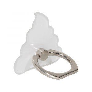Transparent poop ringhållare som ståendes