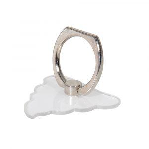 Transparent poop ringhållare