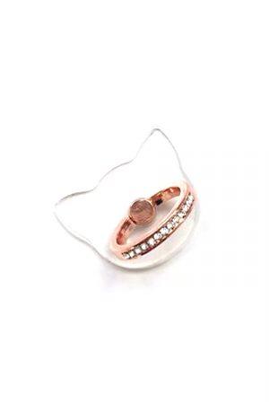 ringhållare transparent roseguld katt
