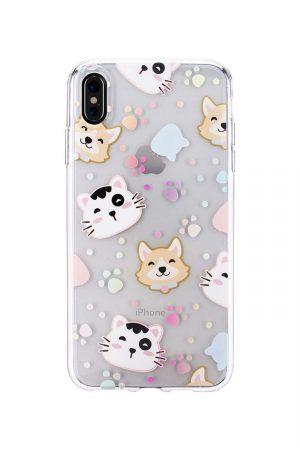 Mobello Soft Poly Transparent Holo Pets Skal från Mobello Soft Poly till iPhone XS Max